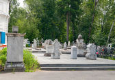 Memorial Cemetery Zavalnoe. Tobolsk. Russia — Stock Photo