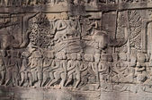 Bas-relief of Bayon Temple . Cambodia — Stock Photo
