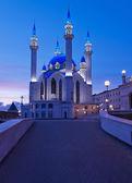 Kul Sharif mosque in Kazan Kremlin at sunset. Russia. — Stock Photo