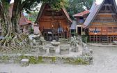 The stone chairs of Ambarita where tribal elders held council. — Stock Photo