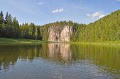 楚索伏伊河上的 oleniy 岩 — 图库照片