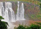 Extreme boat under the Iguacu falls — Stock Photo