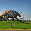 Постер, плакат: Giant armadillo monument north of Salta city Argentina
