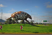 Giant armadillo monument north of Salta city. Argentina. — Stock Photo