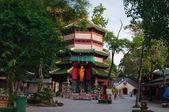 Guan Yin pagoda on sunrise — Stock Photo
