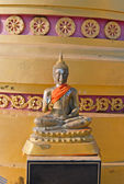 Buddha statue near Pagoda on the top of Tiger Temple (Wat Tham S — Zdjęcie stockowe