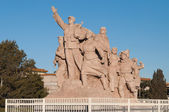 Monument in front Chairman Mao Memorial Hall (Mausoleum of Mao Z — Stock Photo