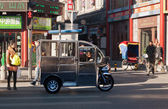 Chinese Auto Rickshaw at street in Beijing. China — Stock Photo