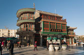 House on Beijing Qianmen Street — Stock Photo