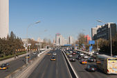 Traffic on 3rd Ring Road in Beijing. China — Stock Photo