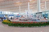 Fountain in Beijing Capital International Airport — Stock Photo