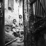 Unidentified children in Favela Rocinha. Rio De Janeiro. Brazil. — Stock Photo