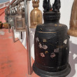 Old bells on the Golden mountain temple in Bangkok — Stock Photo #40620713