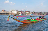 Boat on Chao Phraya river in Bangkok — Stock Photo
