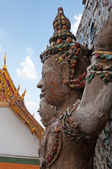 Statue of Giant at Wat Arun (Temple of Dawn) — Foto Stock