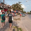 Tourists walk on the street in Ao Nang — Stock Photo