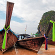 Traditional longtail boats on the Railay beach — Stock Photo #41833723
