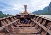 Head of traditional longtail boat — Stock Photo