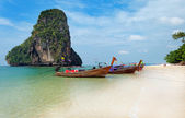 Railay beach in Krabi at morning — Stock Photo