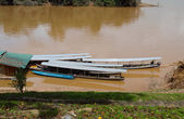 Boats  in Kuala Tembeling — Stock Photo