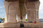 Bridge over the Malacca river. — Stock Photo
