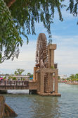 The old port's water wheel in Malacca — Stock Photo