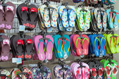 Sandals in the shop on Jonker street — Stock Photo
