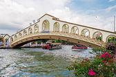 An arch bridge over the Malacca river near Jambatan Old Bus Stat — Stock Photo