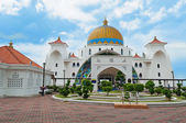 Malacca-straße-moschee — Stockfoto