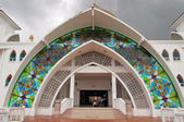 Malacca boğazlar camii girişi — Stok fotoğraf