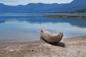 Fishing boat at Lake Maninjau (Danau Maninjau) — Foto de Stock