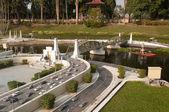 Pathom Boromarachanusorn Bridge in Mini Siam Park — Stock Photo