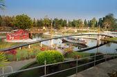 Rama IX Cable-Stayed bridge in Mini Siam Park — Stock Photo