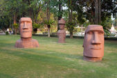 Statues of Easter Island in Mini Siam Park — Stock Photo