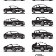 Cars and off road vehicles — Vector de stock #14687101