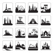 Travel destinations — Stock Vector