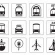Public vehicles icons set — Stock Vector