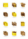Package icons set — Vector de stock