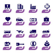 Insurance icons set — Vecteur