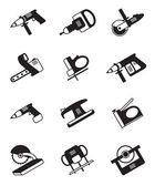Power tools for construction — Vector de stock
