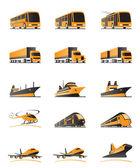 Transporte de pasajeros y de carga — Vector de stock