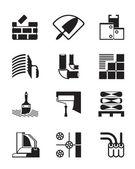 Baustoffe und werkzeuge — Stockvektor