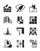 Construction materials and tools — Vector de stock