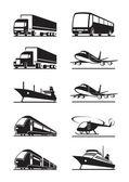 Transportes de pasajeros y de carga — Vector de stock