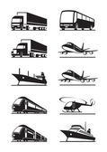 Vervoer van passagiers en vracht — Stockvector