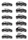 легковые автомобили и внедорожники — Cтоковый вектор
