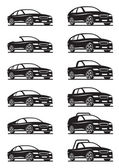 汽车和越野汽车 — 图库矢量图片