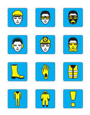 Health and safety icons set — Stock Vector