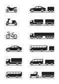 Iconos de los vehículos de carretera — Vector de stock