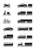 Road vehicles icons — Vettoriale Stock